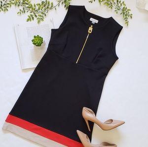 Calvin Klein Zip Front Ponte Dress